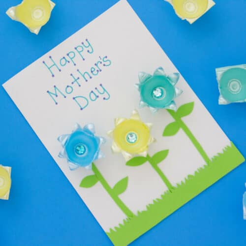 Egg Carton Mother's Day Card