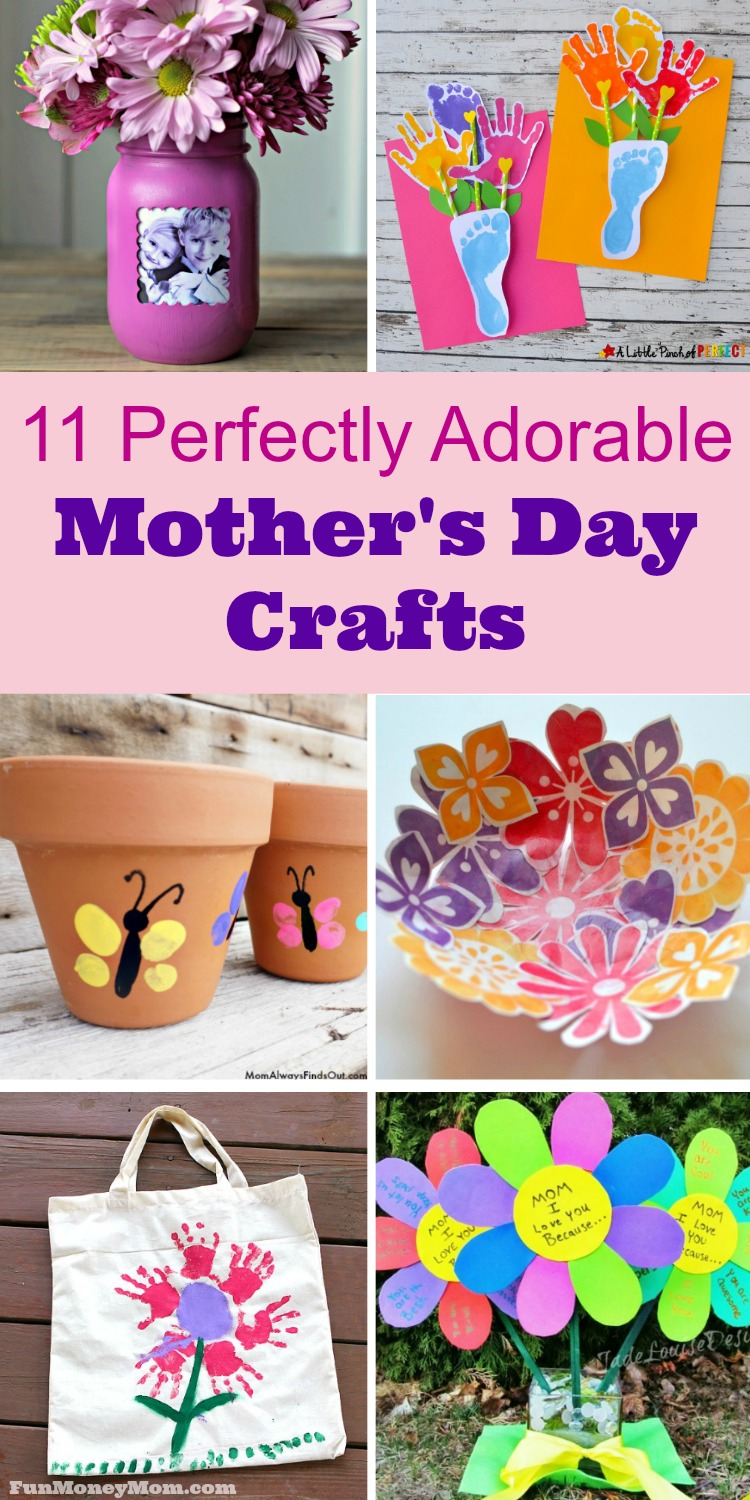 Let the kids make their own gifts for mom with these super cute and easy to make Mother's Day crafts.