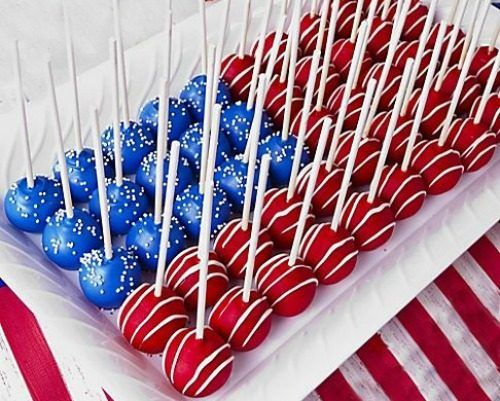Red White And Blue Recipes cake pops