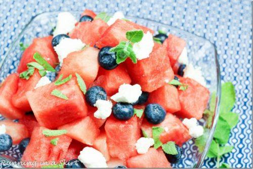 Red White And Blue Recipes watermelon feta