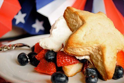 Cut stars into strawberry shortcake for a delicious patriotic dessert