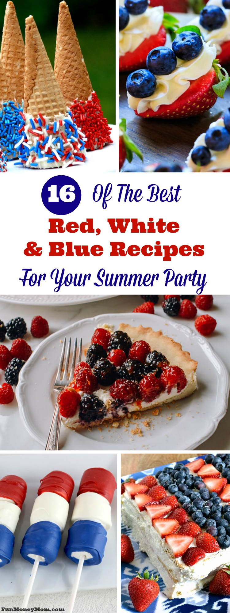 You can't have a Memorial Day or Fourth Of July party without some patriotic snacks, right? Serve these red white and blue recipes and your friends and family will be pledging their allegiance to you!