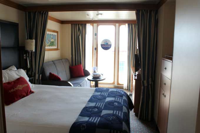 The bedrooms on board the Disney Wonder cruise were larger than expected