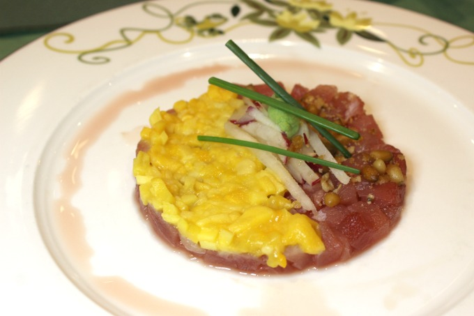 The ahi tuna tartare at Tiana's Place on the Disney Wonder was delicious
