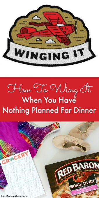 What does a busy mom do when she has nothing planned for dinner? She's winging it! @Baroness #wingmama #ad