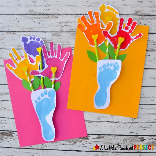 Mother's Day crafts - footprint & handprint