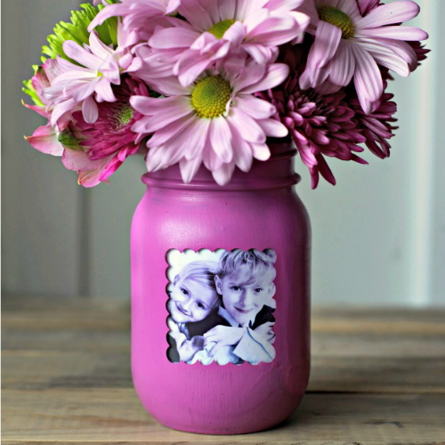 Mother's Day crafts - mason jar vase