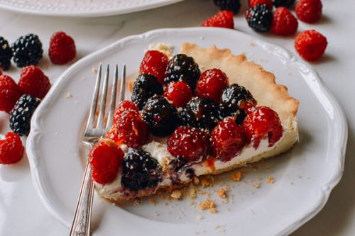 This tart will disappear quickly when you serve it at your 4th of July party