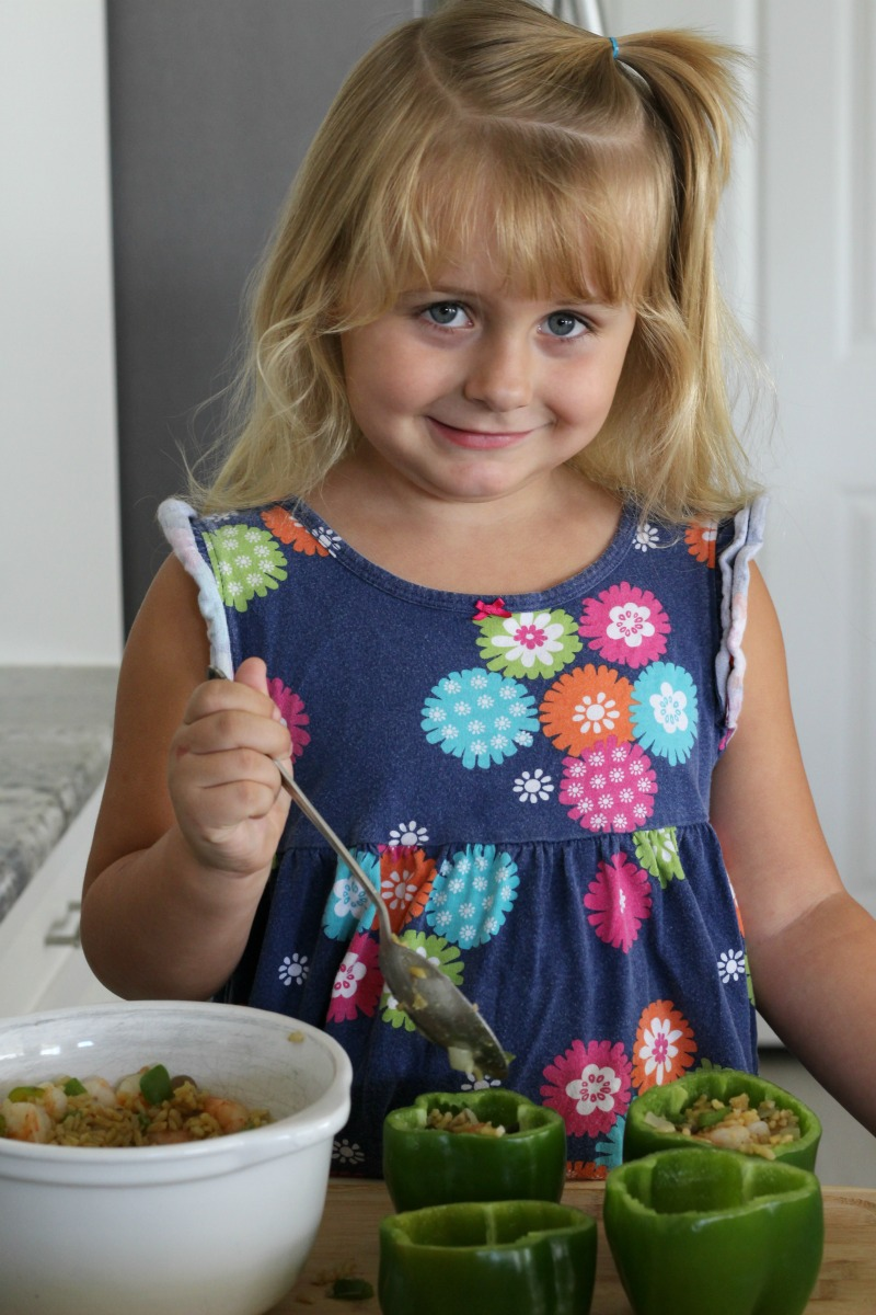 Kids learn healthy eating habits when they help with the cooking