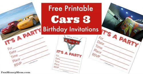 Cars Birthday party invitations