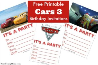 Cars 3 Birthday Invitations feature