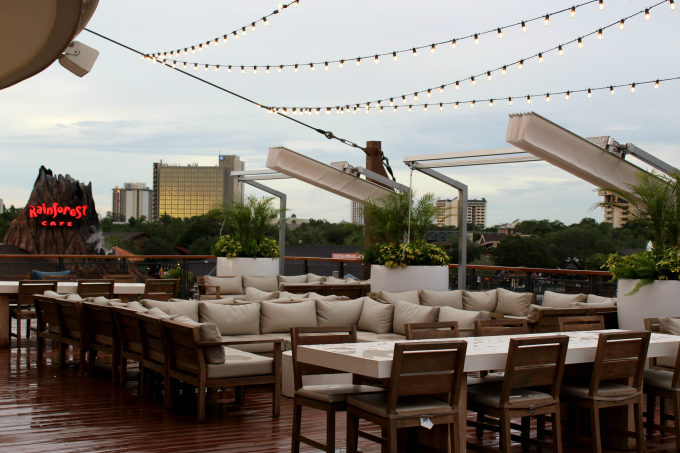 If you want to know where to eat at Disney Springs for a great view, you'll want to check out Paddlefish.