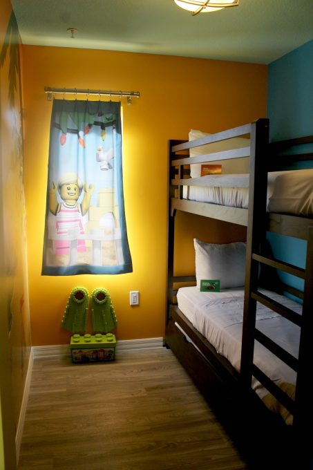 The kids loved the bunk beds at the Legoland Beach Retreat