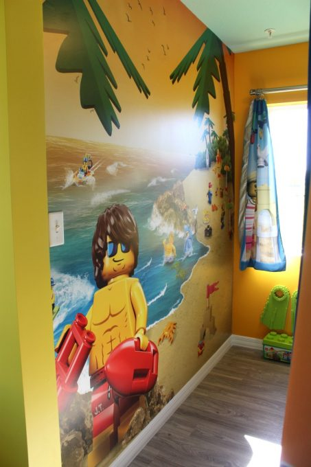 The kids room features a David Hassolhoff look-a-like