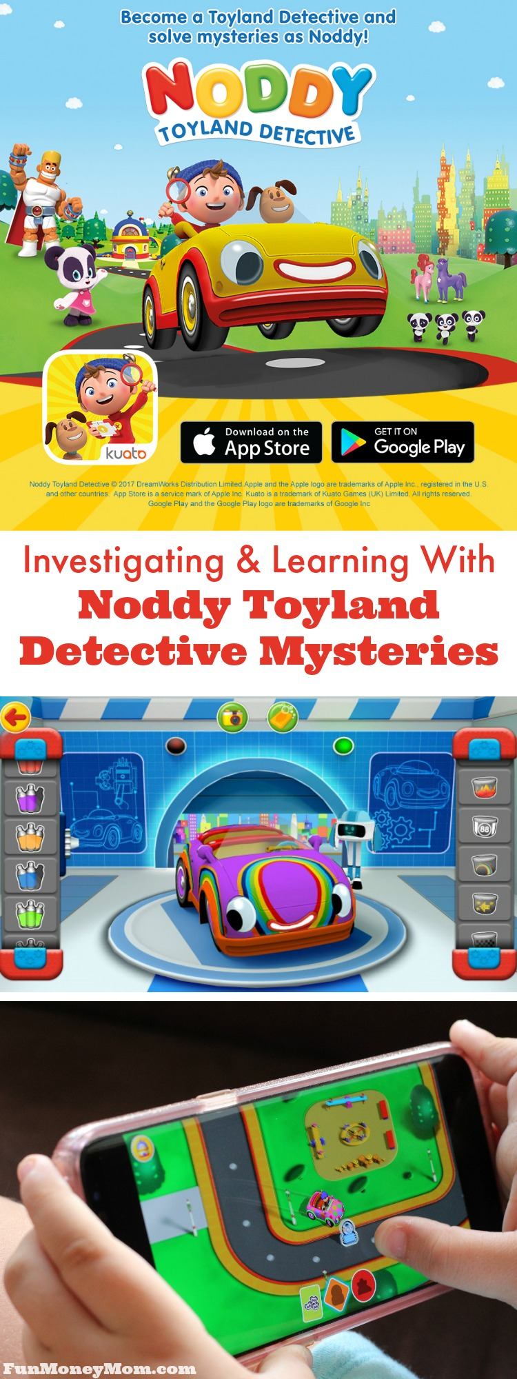 Looking for apps that will keep your child entertained, yet teach them something along the way? With the Noddy Toyland Detective app, your child will have fun solving mysteries while learning important literacy skills at the same time.