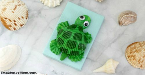seashell turtle craft