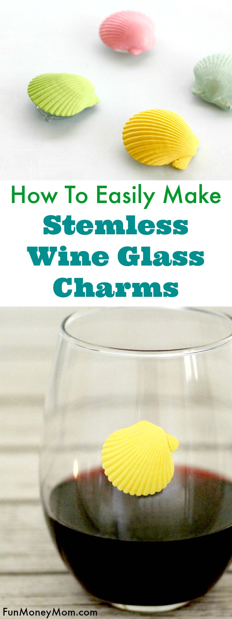 Want an easy craft that'll also help you figure out which wine glass is yours? These cute stemless wine glass charms are both fun and easy to make.