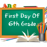 6th grade first day of school signs