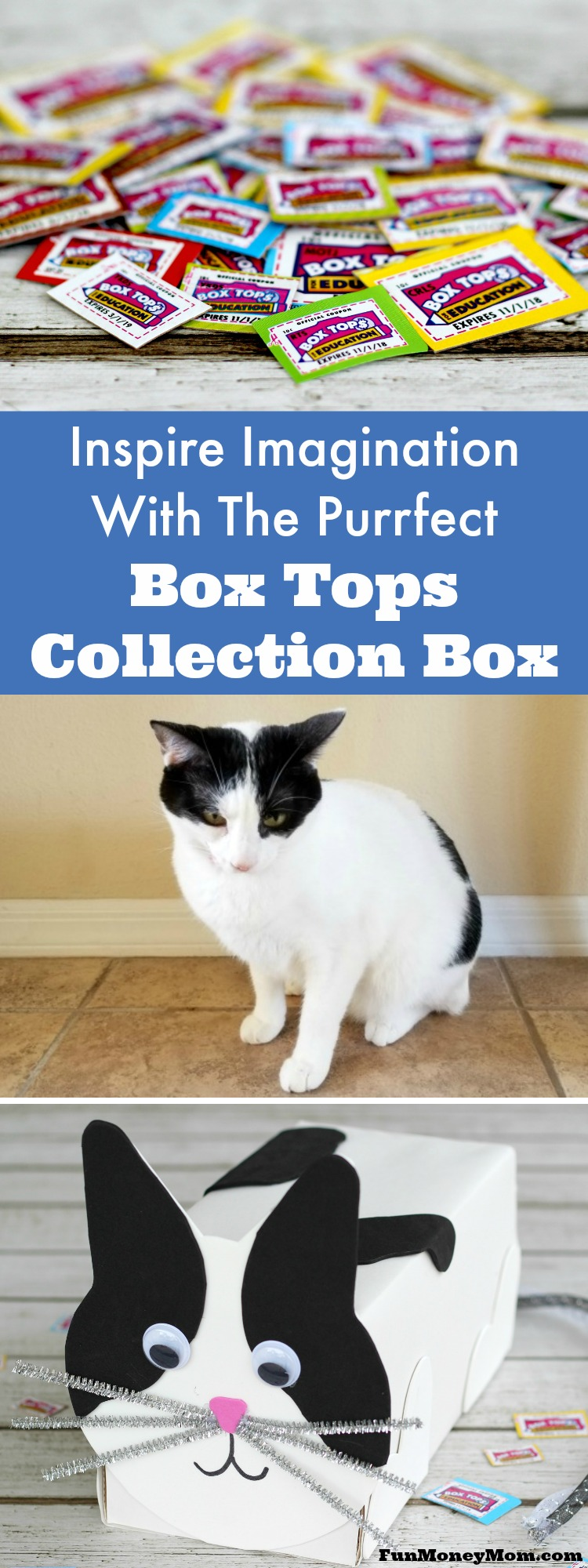 Want to inspire imagination in your kids before they head off to school? Why not have some fun making the Purrfect Box Tops collection box! #ad #Costco #InspireContest @Costco @BTFE