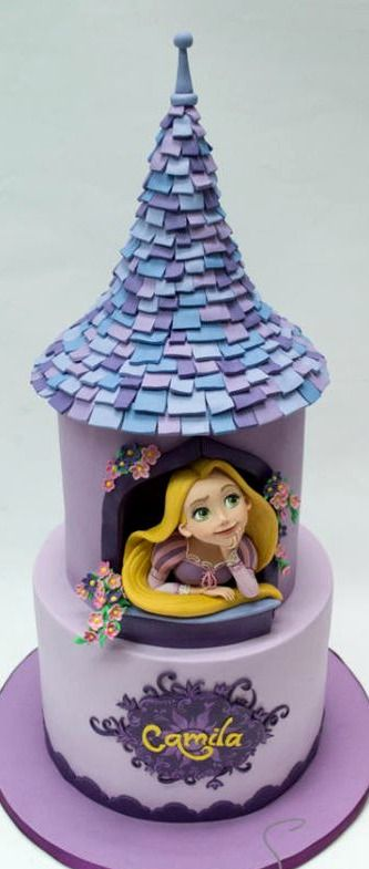 Disney princess cakes with Rapunzel tower