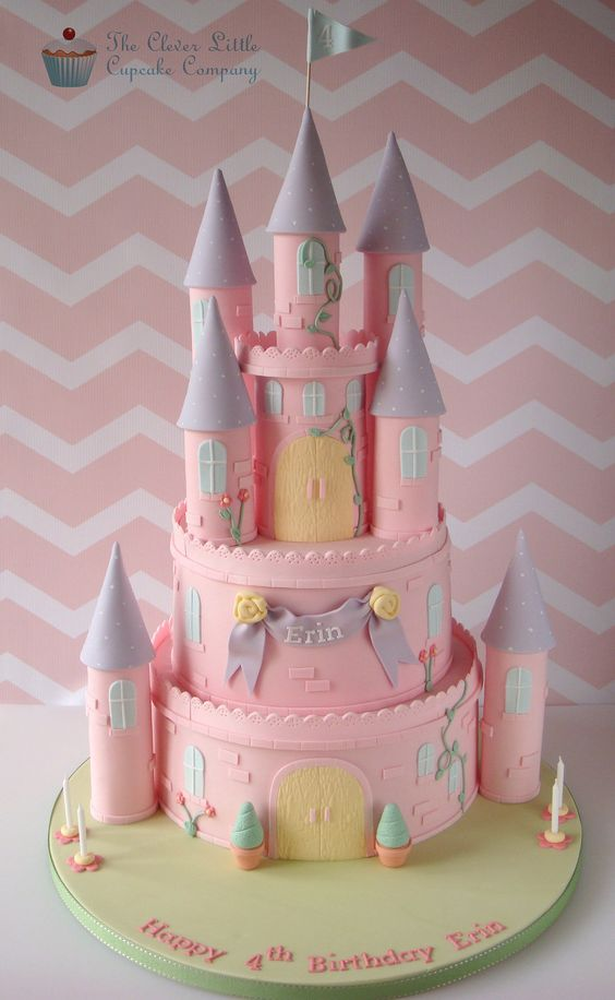Disney Princess Cakes Pink Castle