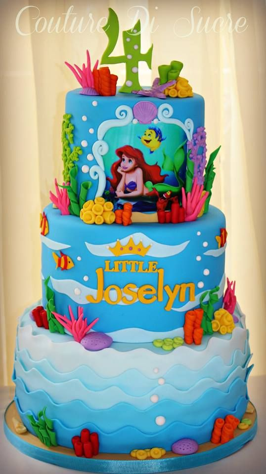 Disney princess cakes Ariel under the sea
