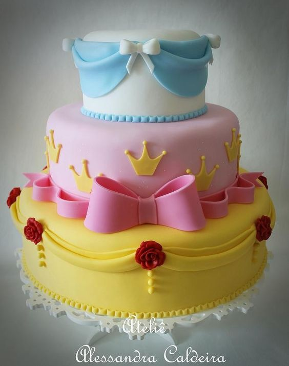 Disney Princess Cakes With Bows