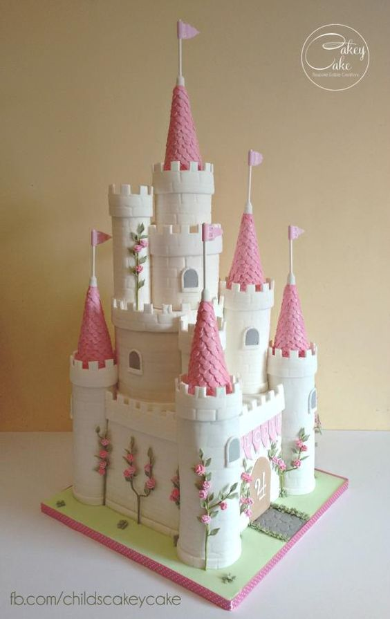 Disney princess cakes castle
