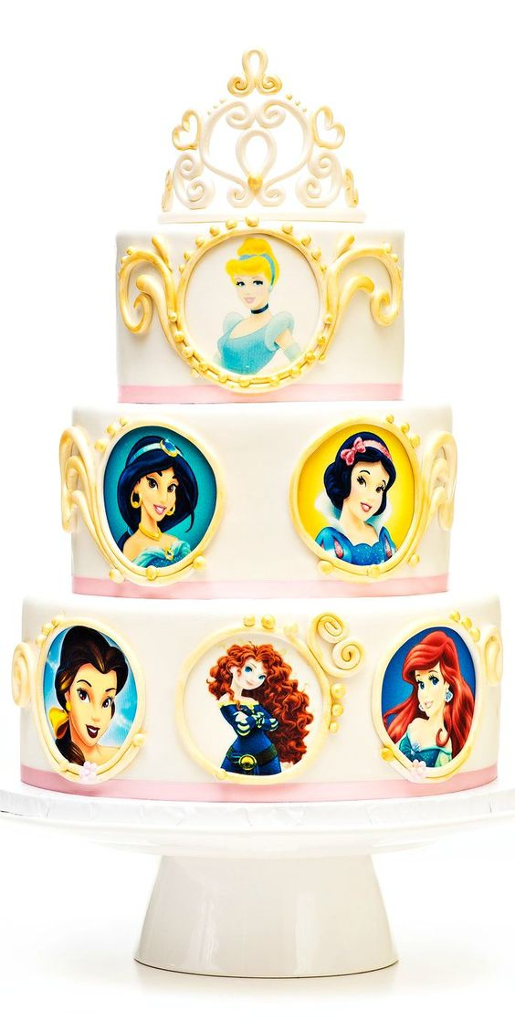 Disney princess cakes with faces