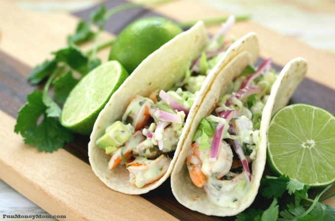 Cilantro Lime Shrimp Tacos
