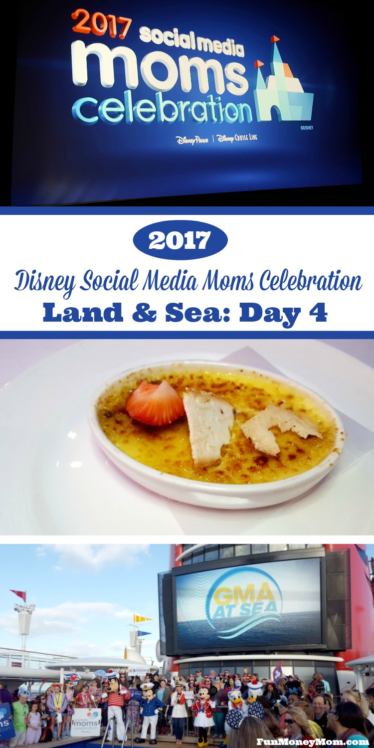 join me for Day 4 of the Disney Social Media Moms Celebration Land & Sea, where I was part of Good Morning America (sort of), listened to inspiring speakers, met a few princesses and somehow took a purple selfie or two.