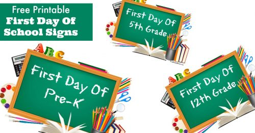 First day of school signs facebook