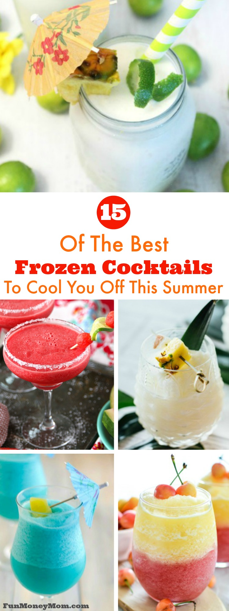 Looking some delicious frozen cocktails to cool you off this summer? Pull a chair up next to the pool and sip on one of these refreshing adult drinks!
