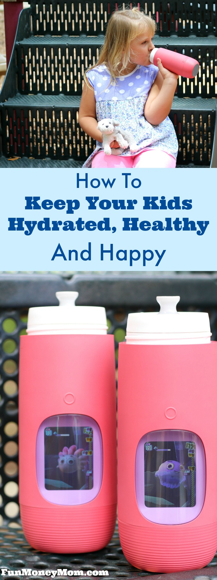 It's not always easy to keep your kids hydrated but it definitely helps when you make it fun! You'll have no trouble getting the kids to drink more water with these fun, interactive Gululu water bottles. #ad #Gululu @MyGululu