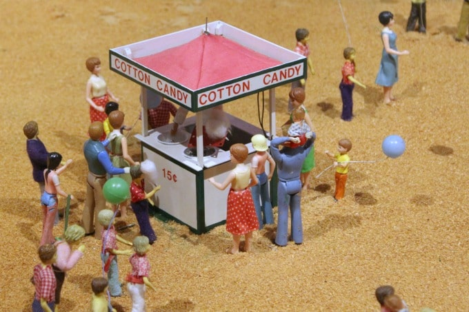 This cotton candy stand contains just a few of the 44,000 miniatures.