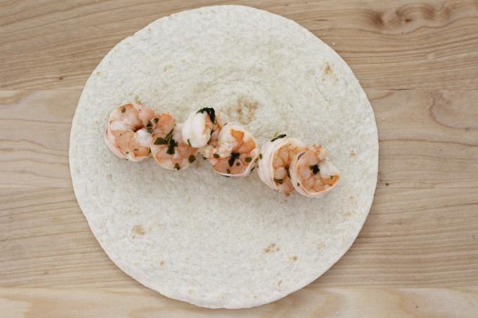 Cilantro lime shrimp tacos start with a generous amount of shrimp