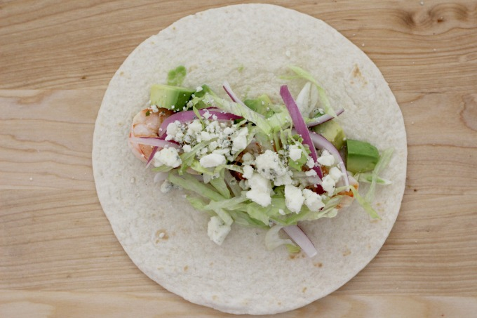 Top your cilantro lime tacos with gorgonzola cheese