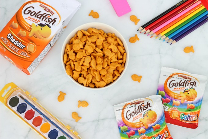 Ask your kids about their day while bonding over Goldfish crackers