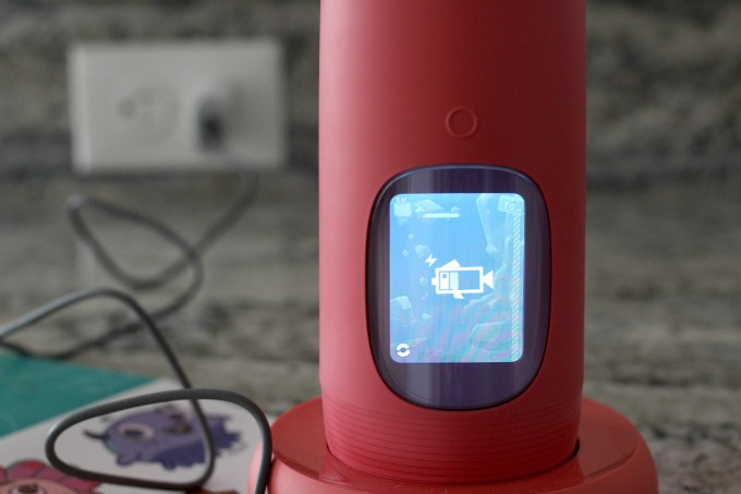 Gululu water bottles come with a charging dock, making it easy to power up.