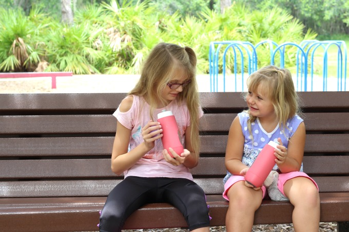 My girls love showing off the pets on their Gululu water bottles.