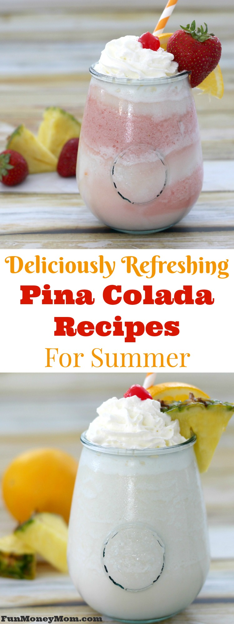 Not that you need an excuse to make pina colada recipes but I've got one for you anyway. It's National Pina Colada Day! So grab your blender and let's get celebrating with these delicious frozen cocktails!