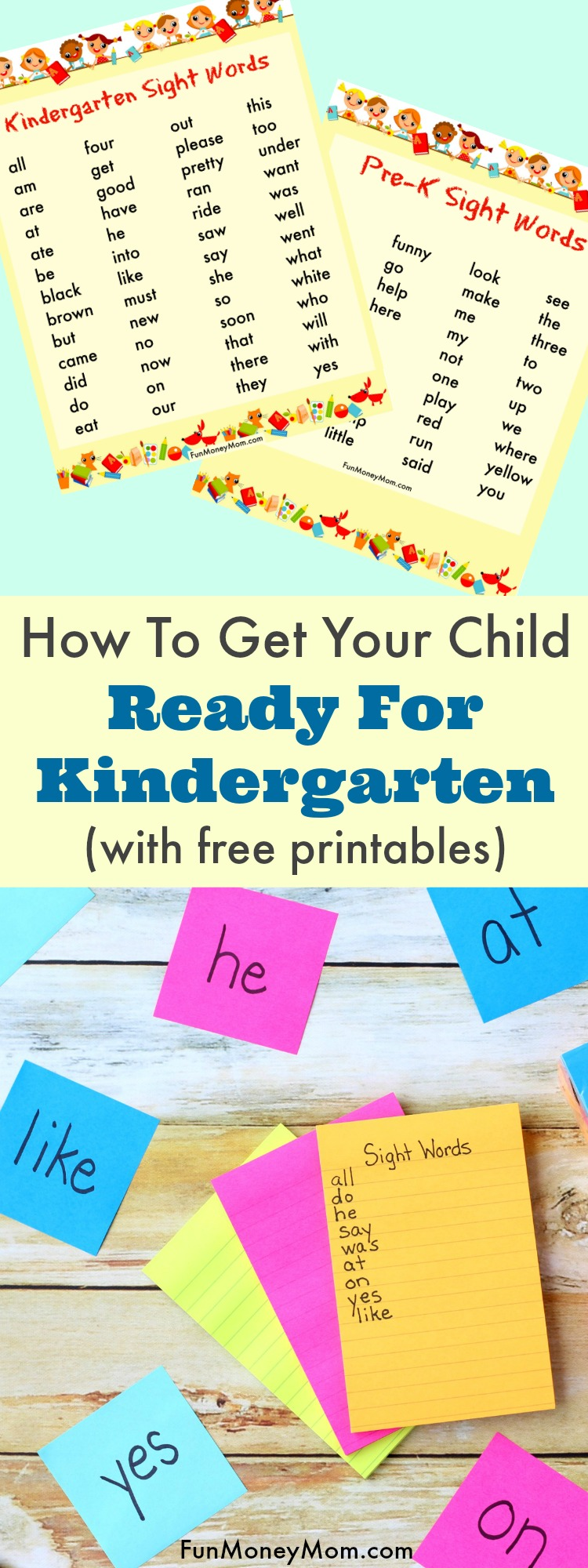 Is your little one starting school this year? You can help them get ready for Kindergarten by practicing the Kindergarten sight words ahead of time. Make it a fun learning game and they'll be reading before you know it. #BackToSchoolGoals #AD