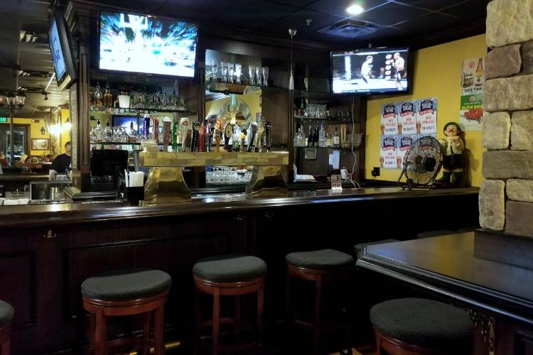 Order food and enjoy a pint at the Irish pub