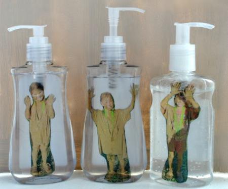 creative photo crafts - kids in soap