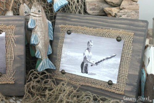 creative photo crafts - wood & burlap frame