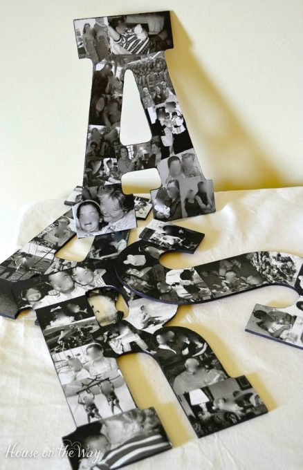 creative photo crafts - collage letters