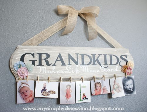 creative photo crafts - grandkids