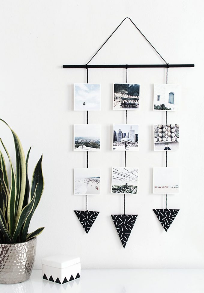 creative photo crafts - wall hanging