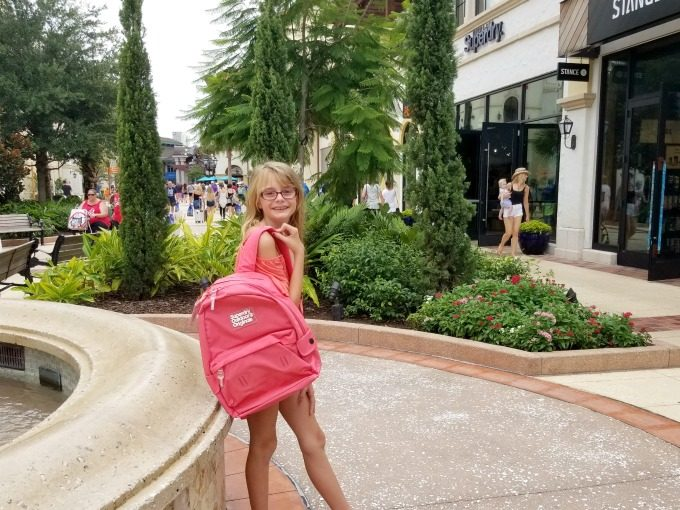 Ashling found the perfect backpack during her back to school shopping trip