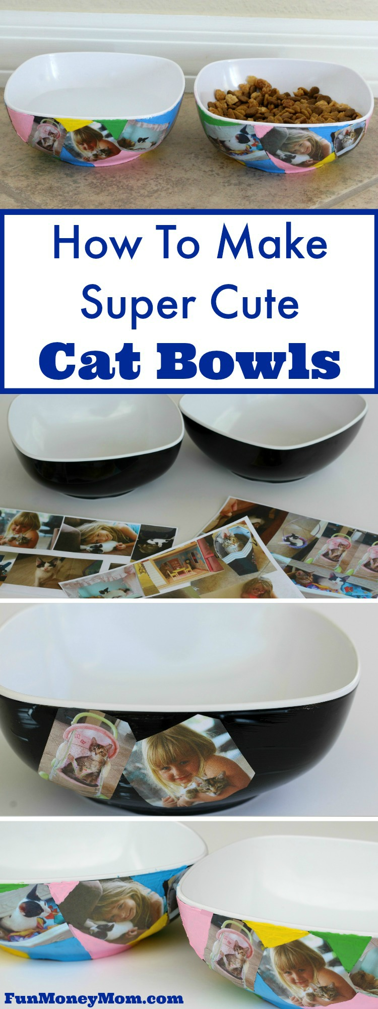 Looking for some fun crafts for kids this summer? If you have pets, your kids will love making these super cute cat bowls for their favorite furry friends.
